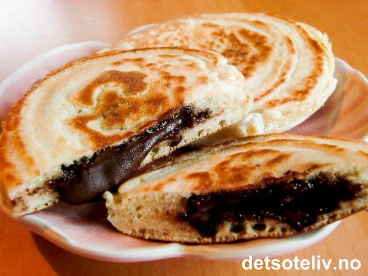 Nutella Pancakes | Det søte liv | Sweet stuff | Pinterest