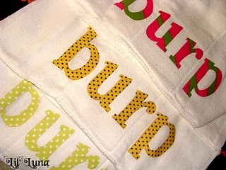 """burp"" cloth"