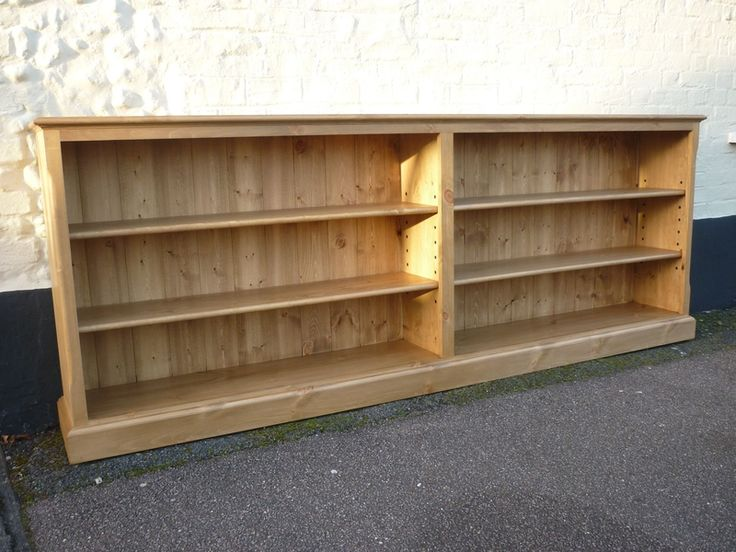 Long bookcase | Wood projects | Pinterest