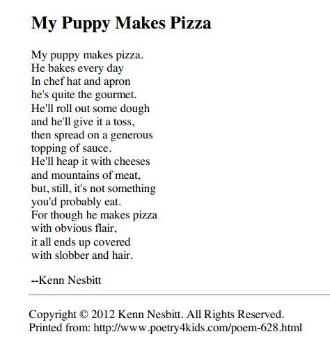 funny poems for kids printable