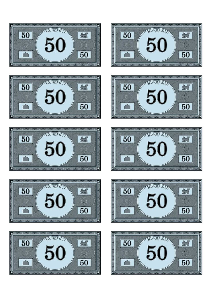 Monopoly Money Printable 50 Monoploy money 50. uploaded to pinterest