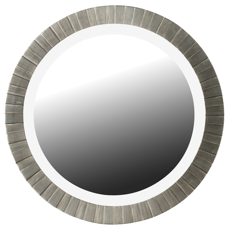 Glades Round Antique Silver Wall Mirror : Overstock.com $156.99