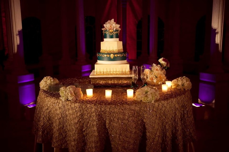 Lighting Your Event - Pin Spot Lighting on Wedding Cake