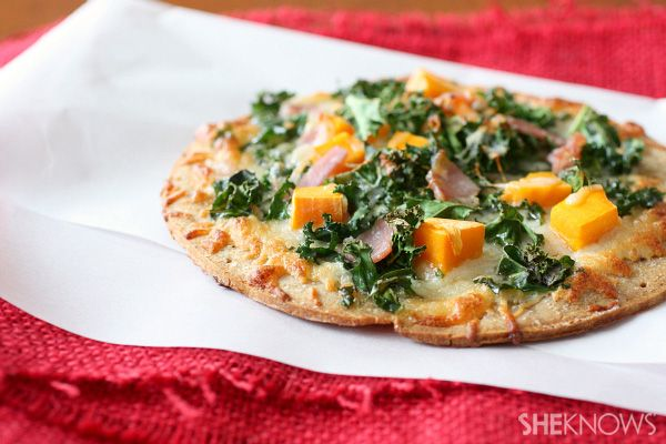 kale, butternut squash and pancetta pizza