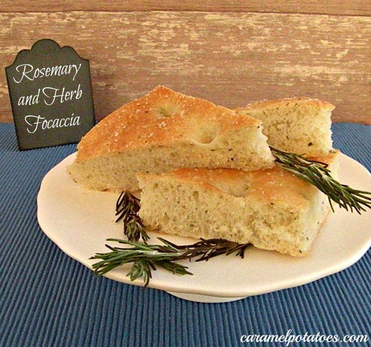 Rosemary & Herb Focaccia from Caramel Potatoes