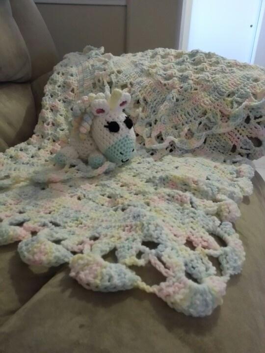 Crochet Unicorn Blanket : Crochet baby blanket, crochet unicorn Baby and Kids crochet ...