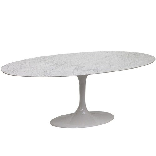 78 Lippa Marble Top Dining Table In White EBay