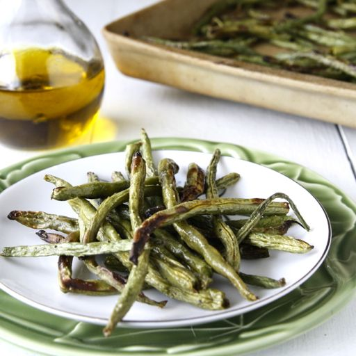 roasted green beans - I made these tonight, and they were a huge hit ...