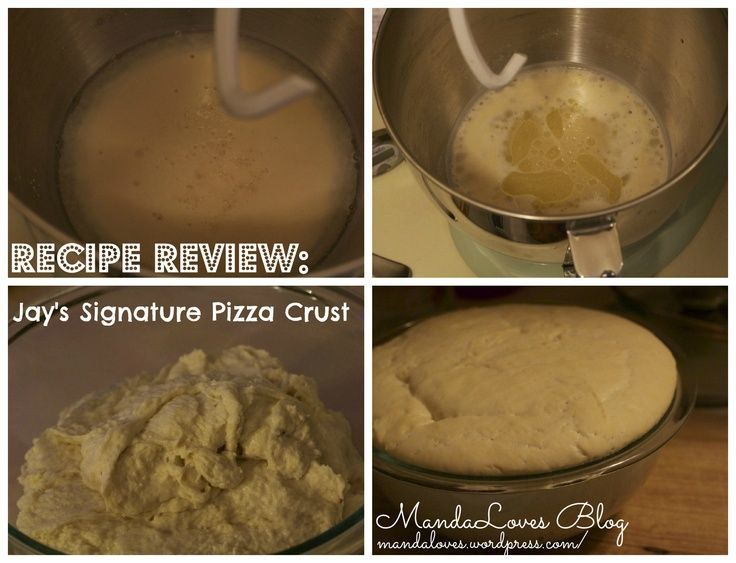 Recipe Review: Jay's Signature Pizza Crust post from MandaLoves Blog