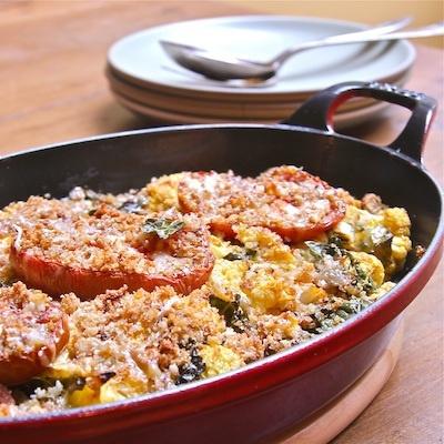 Rustic Cauliflower and Tomato Gratin | Recipe
