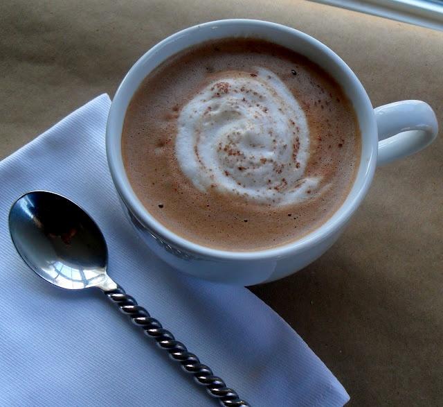 Creamy Hot Chocolate...Chocolate ganache and frothy milk make this ...
