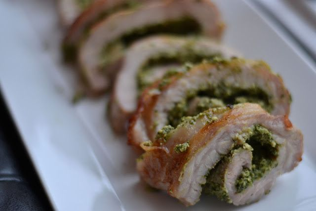 Pork Roulade with Walnut Parsley Pesto | Food, Beer, and Wine | Pinte ...