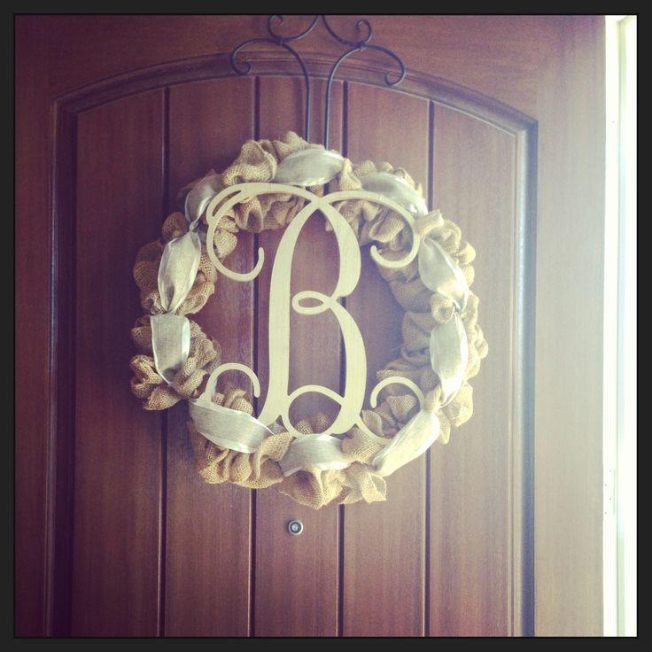 Burlap wreath do it yourself crafts pinterest for Pinterest do it yourself crafts