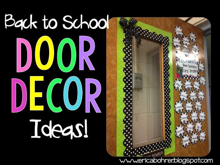 Classroom door decor ideas teaching 2nd pinterest for Back to school door decoration