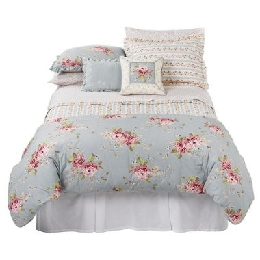 Ellie's bedding. Super cute, love the shabby chic look, but it's not soft at all even through multiple washings.