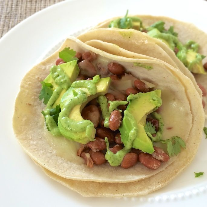 Spiced Black Bean, Grilled Avocado, And Goat Cheese Tacos Recipe ...