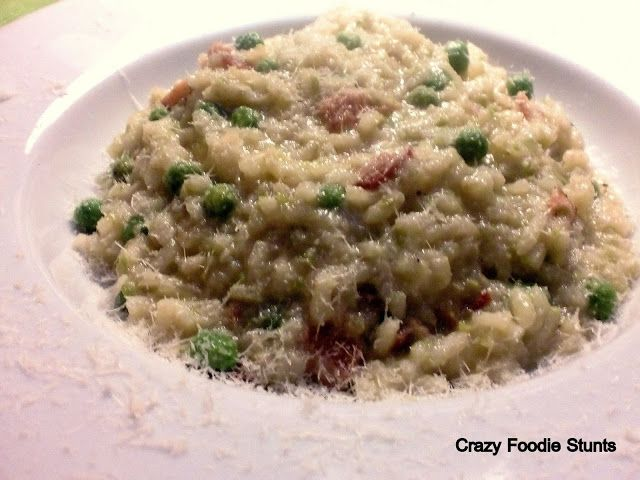 Pea and Bacon Risotto | Me Foodie - Risotto | Pinterest