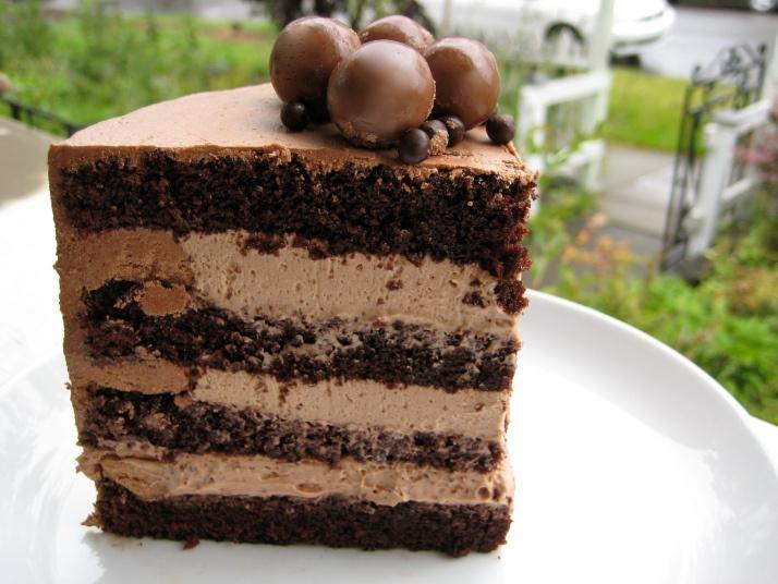 triple chocolate malt cake .. | Cakes | Pinterest