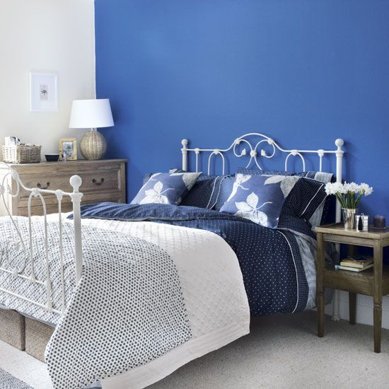 Cobalt Blue With White And Gray Bedroom Navy And Gray