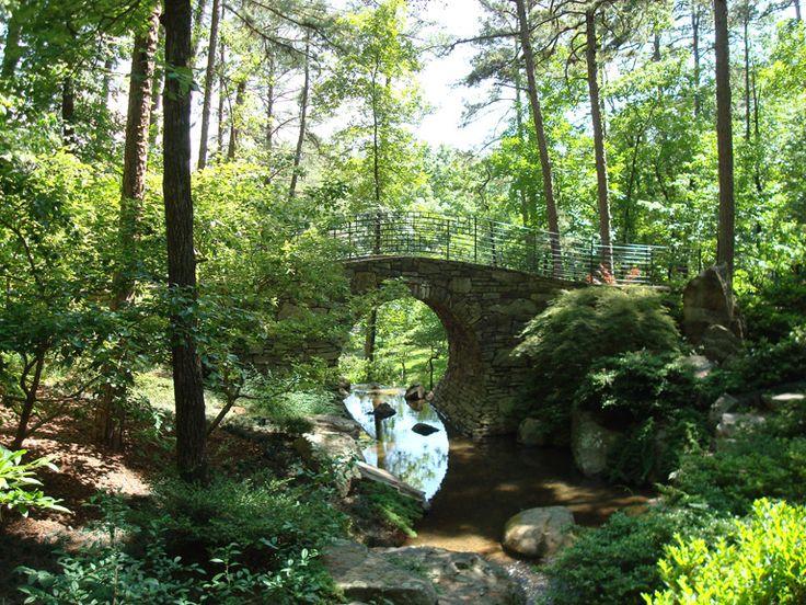 Full Moon Bridge Hot Springs Ar Arkansas The Natural State P
