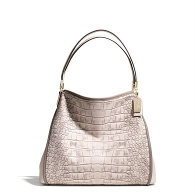 COACH Madison Small Phoebe in Croc Printed Canvas