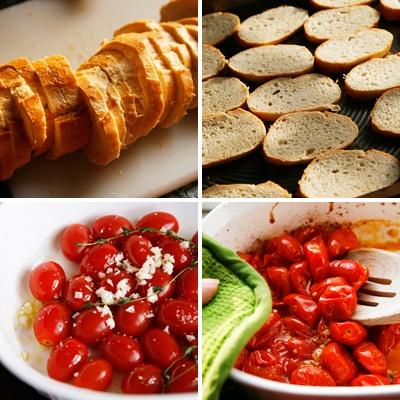 Garlic Tomato Crostini with Ricotta | Recipe