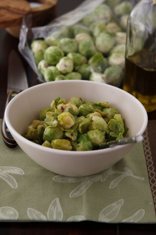 Simple Sauteed Brussels Sprouts!