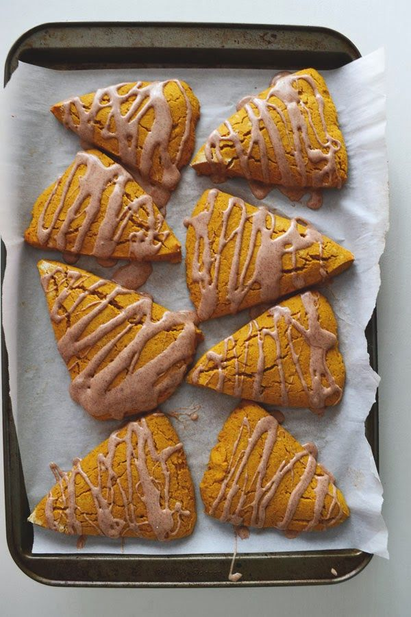 urban nester: gluten-free pumpkin scones with maple icing - not vegan ...