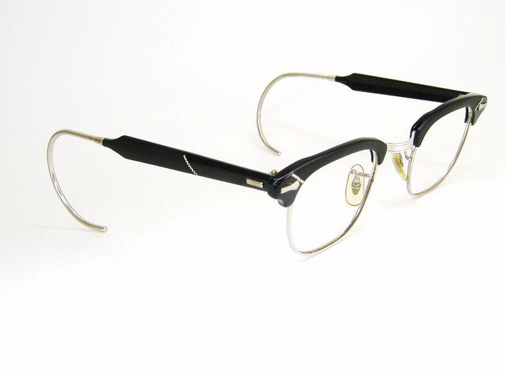 Vintage 50s Eyeglass Frames Mens : Vintage Mens 50s Shuron Horn rim Eyeglasses Eyewear Frame ...