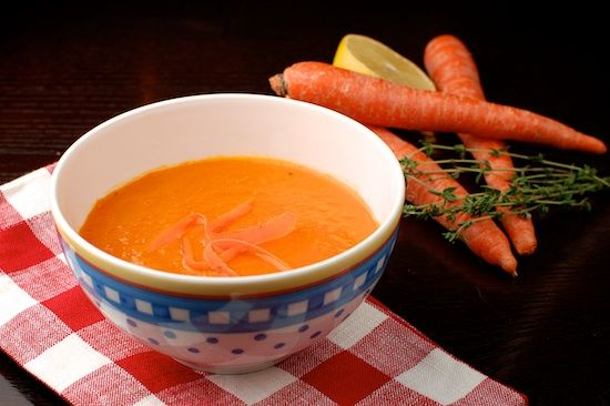 Carrot Soup with Ginger and Lemon | Delicious | Pinterest