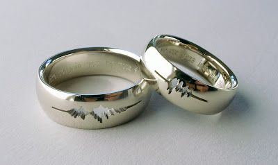 Cut Out Sound Wave Of Me Saying 'I Do'...This would have been amazing!!!