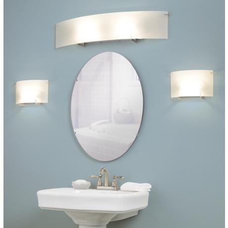 Soho 33 3 4 Wide Checkered Glass Bathroom Light Fixture