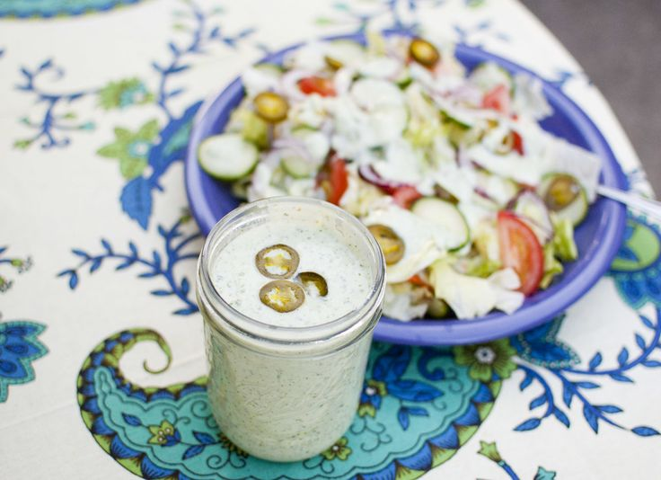 jalapeno ranch dressing | Vegan recipe blog | Pinterest