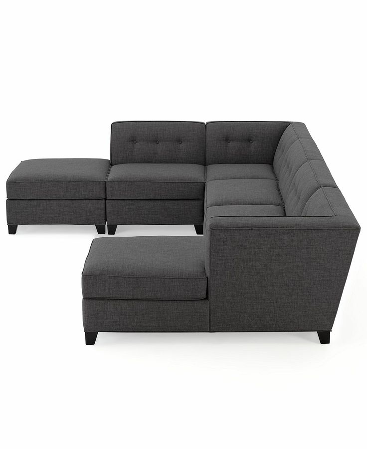 Harper fabric modular sectional sofa 6 piece square for Harper fabric modular sectional sofa 6 piece