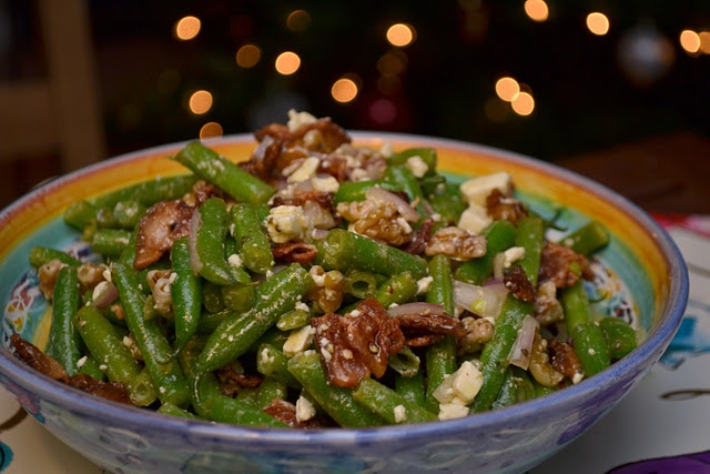 Green Bean and Feta Salad (with Bacon!) | Salads | Pinterest