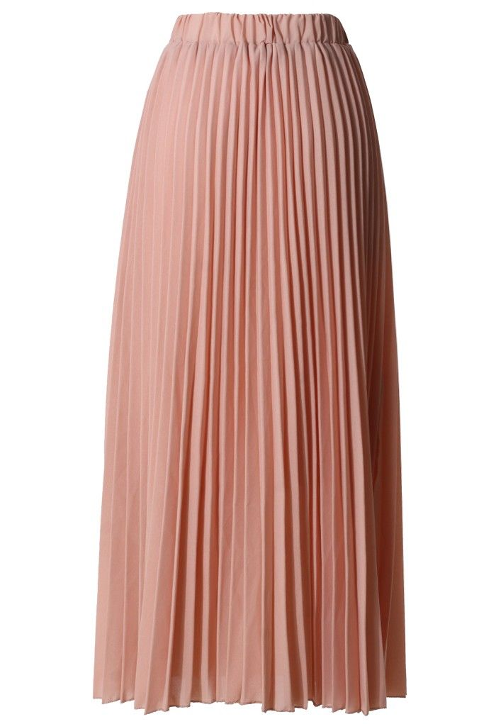 chiffon pink pleated maxi skirt me oh i m just enhancing