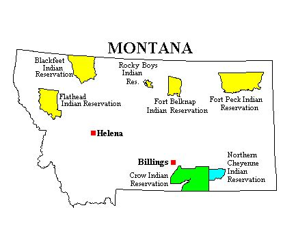 Indian Reservations In Montana  Native American Nations