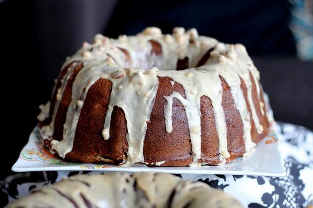 Apple Cinnamon Bundt Cake with Maple Walnut Glaze - Yum!