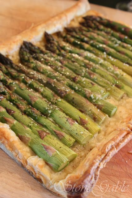 Asparagus Gruyere Tart | Recipes - Foods and Drinks | Pinterest