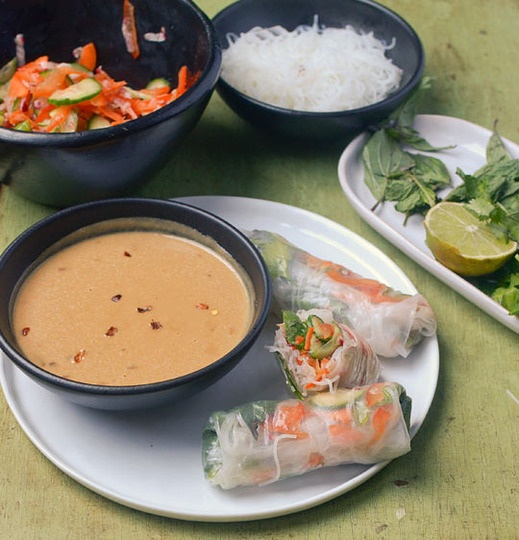 How To Make Vegetable Summer Rolls with Spicy Peanut Sauce | Recipe