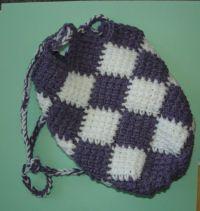 Free Knitting Pattern - Lady Bug Pajama Bag