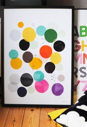 Bubbles print by Little Studio