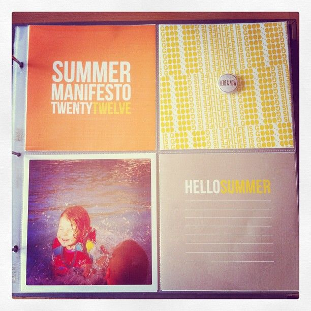 great way to combine ali edwards digital summer manifesto with #projectlife pages