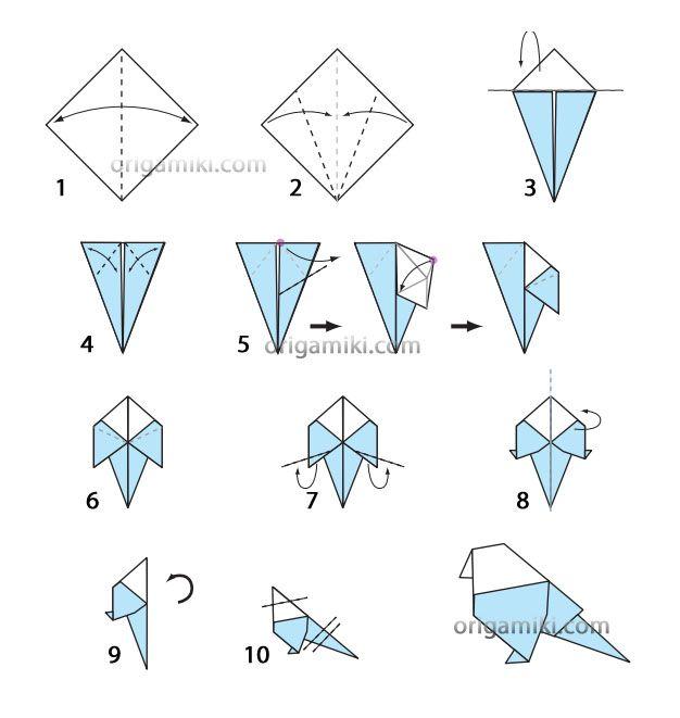 Как сделать птичку оригами своими руками