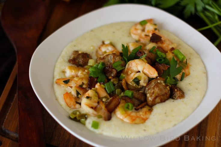 Shrimp & Spicy Cheddar Grits Recipe — Dishmaps