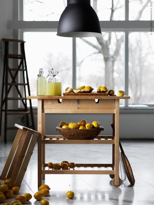 Sideboard Kok Ikea : rullbord kok ikea  Grunden or Ikeas Bekvom o detta Ikea hack