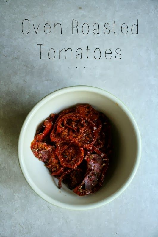 Oven Roasted Tomatoes // Paleo
