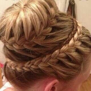 Hairstyles For Short Hair Double Crown : ... Zipper Braid additionally Mini Braid Hairstyle. on hairstyles for buns