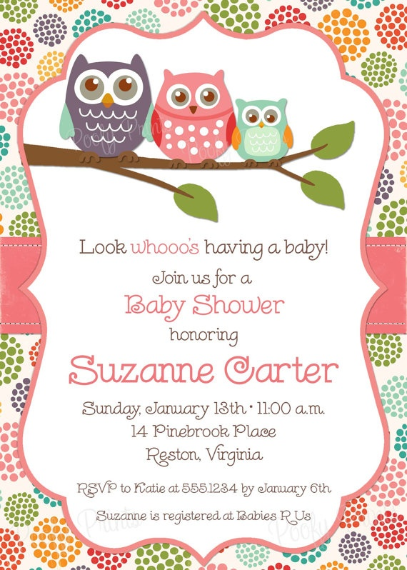 owl baby shower invitations diy printable baby girl shower invitati