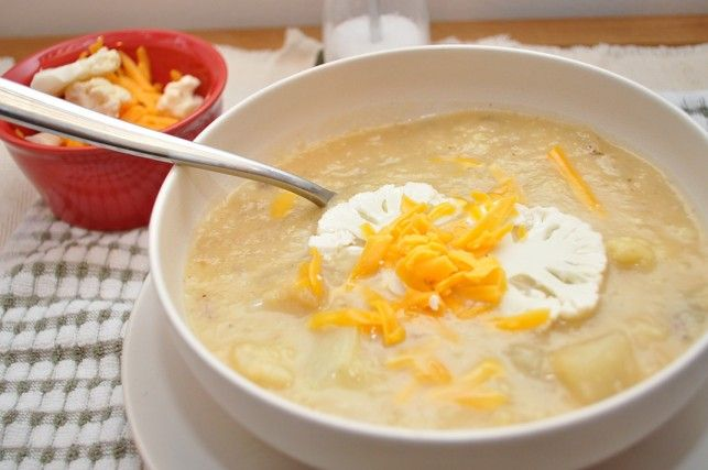 Cauliflower Cheddar Soup | Recipes to Try | Pinterest